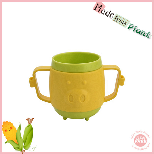 cute pet pig biodegradable pla plastic cup