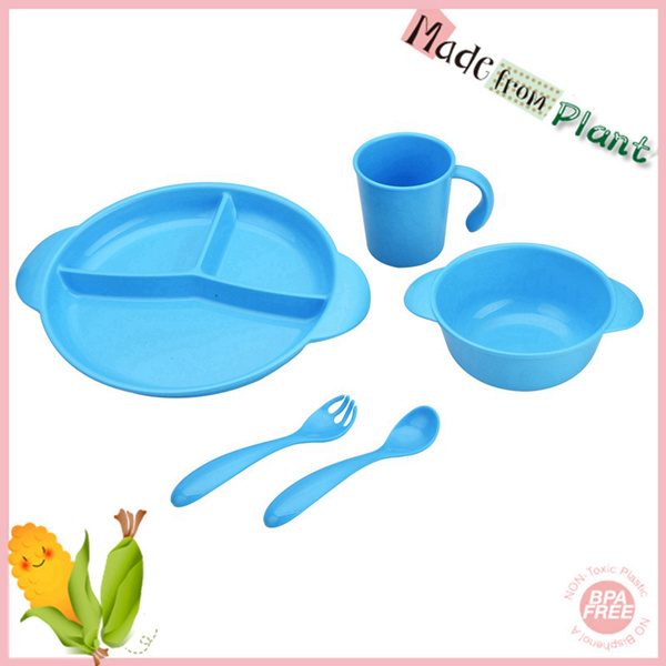 5pcs new arrivel toxin-free pla dinnerware set
