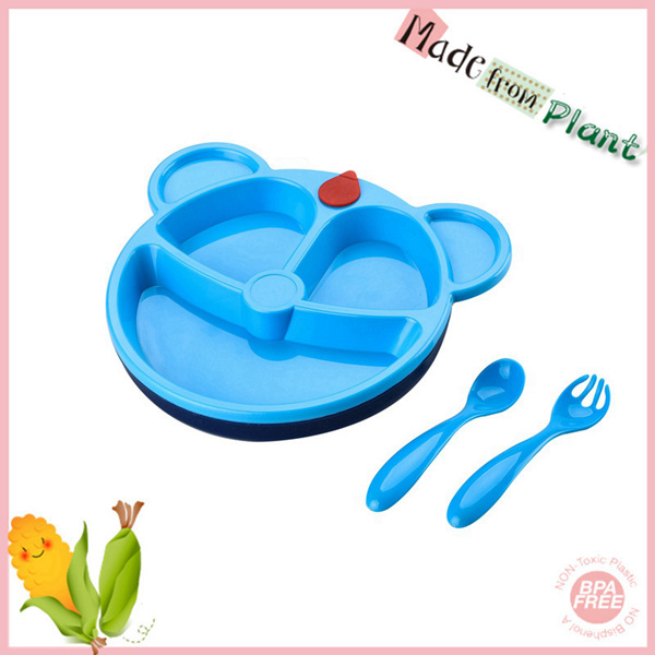 3pcs pla vacuum plates dinnerware set