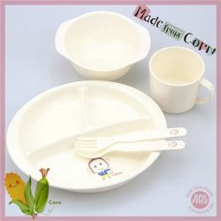 Bio-Plastic Baby Dinnerware Feeding Set 5pcs